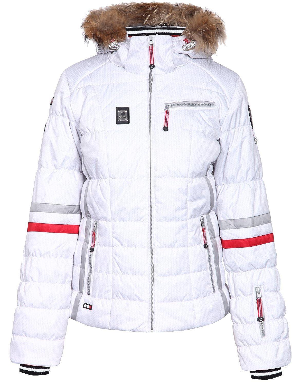 ICEPEAK Winterjacke, Damen Skijacke, CARLY, weiß/creme, Echtpelz günstig kaufen