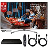 LG 65SJ8500 65-inch Super UHD 4K HDR Smart LED TV (2017 Model) w/Blu-ray Player Bundle Includes, (UP970) 4K Ultra-HD Blu-ray Player w/Multi HDR, 1 Year Extended Warranty & 2 x 6ft. HDMI Cable