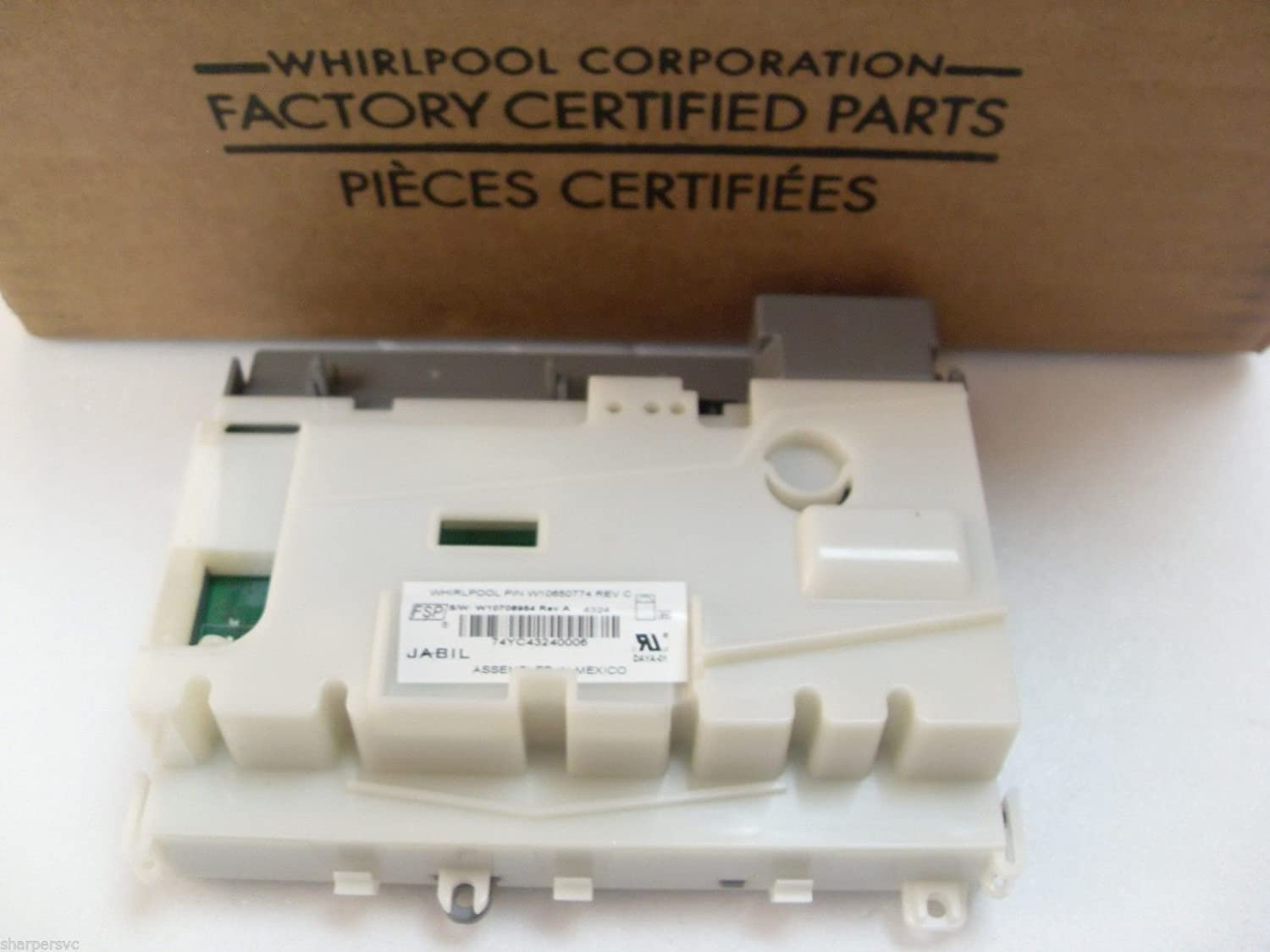 Whirlpool W10671752 Control Board replaces W10650774