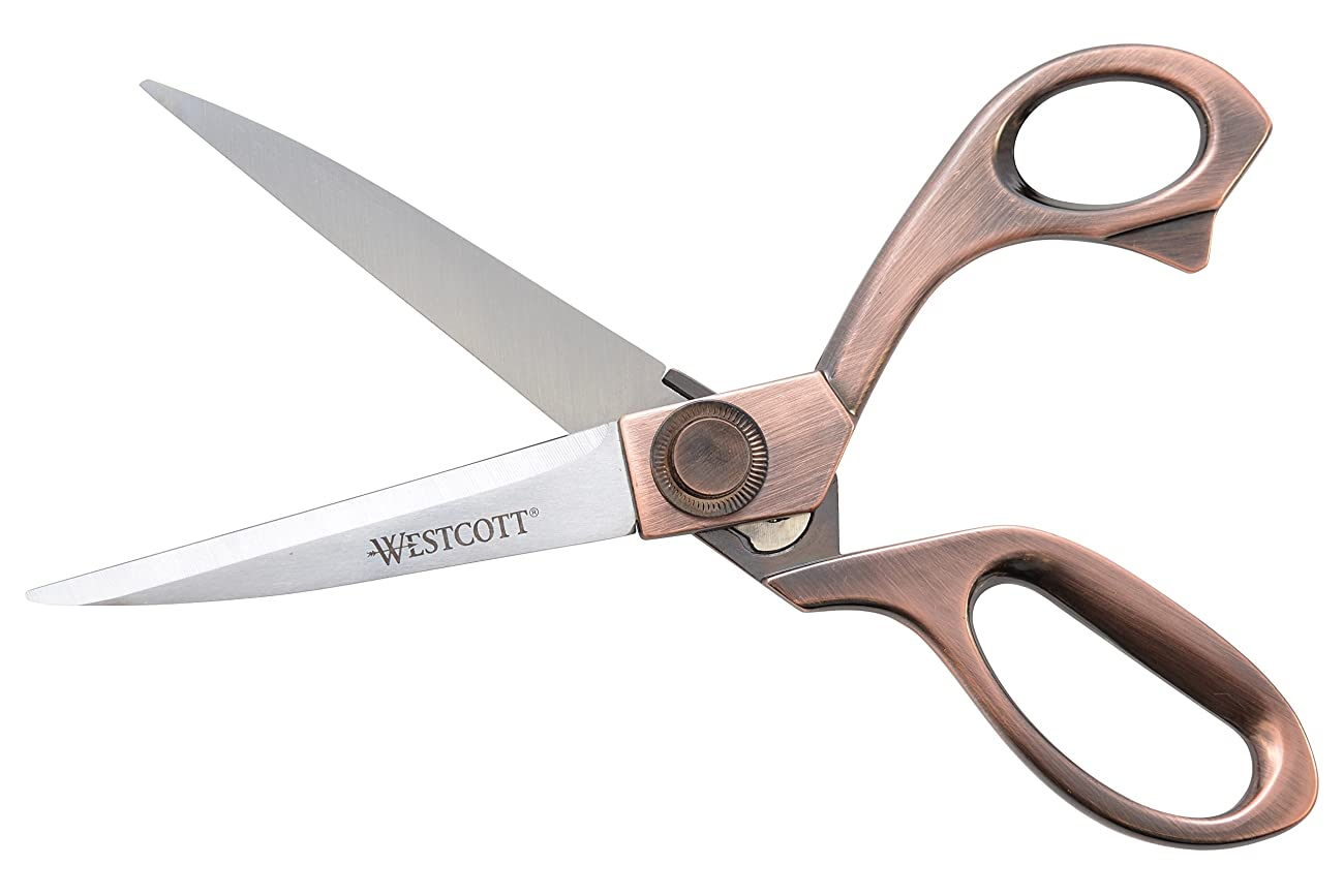 Westcott 8-Inch Bent Scissors, Vintage Copper Finish (16459) 2