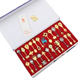 Fairy Tail Key Blade 24pcs Keychain Necklace Pendant Cosplay Collection Set 2017 (Color: Style 4(24 Keys), Tamaño: Normal size)