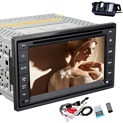 Sauvegarde Inverser Parking CamšŠra LED! 6,2-pouces Double-DIN 2 Dans Dash šŠcran tactile lecteur DVD de voiture Bluetooth Navigation GPS + Win 8 UI Design GPS Carte Card gratuit