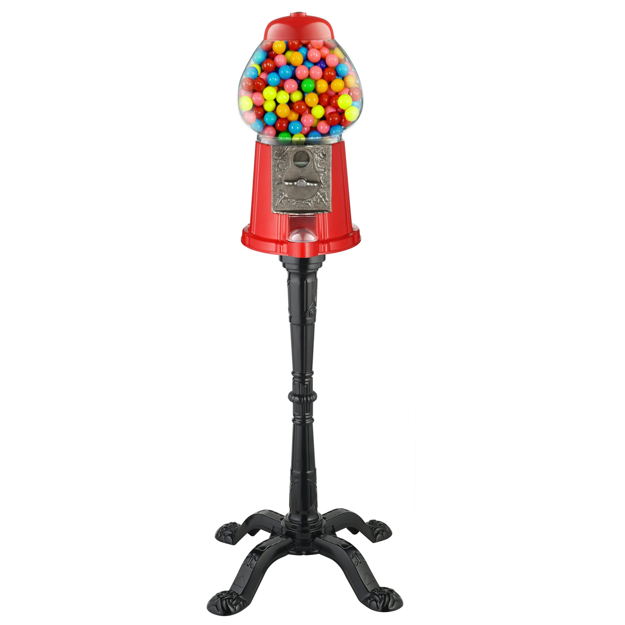 antique gumball machine on stand