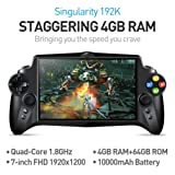 JXD S192K Singularity 7 Inch 1920X1200 Quad Core 4G/64GB RK3288 Handheld Game Player Gamepad 10000mAh Android 5.1 Tablet PC Portable Video Game Console (Color: Black)