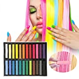Hair Chalk Set 24 Color Temporary Hair Pastels Rainbow Colored Non-Toxic For Kids Hair Dyeing Party and Cosplay DIY Gifts Present for 4 5 6 7 8 9 10 Years Old Girls (Color: Hair Chalk)