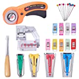 NBEADS 6 Types of 26pcs Fabric Bias Tape Maker Set Sewing Quilting Tool Multifunction Sewing Fold Bias Tape Makers Kits, 180x130x30mm (Color: Mixed Color)