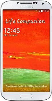Samsung Galaxy S4 i9515 Smartphone débloqué 4G (Ecran : 5,0 pouces 16 Go Simple SIM Android) Blanc
