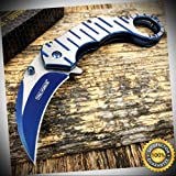 Spring Assisted EDC Folding Rescue Pocket Knife TF-952BL - Outdoor For Camping Hunting Cosplay