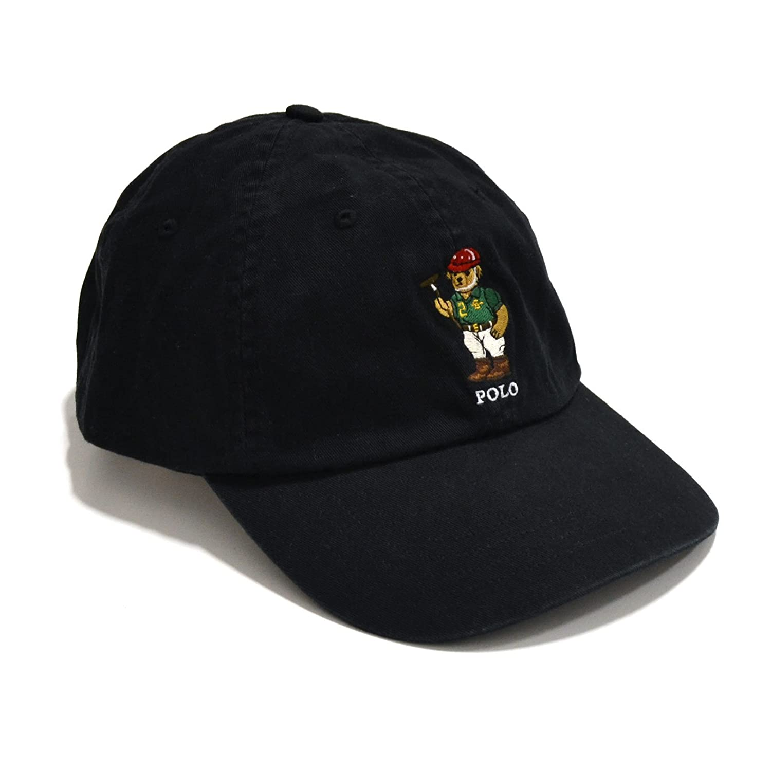 Polo Ralph Lauren Mens Bear Logo Hat Cap lauren ralph lauren new black cap sleevesheath dress msrp $134