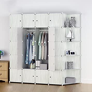 Bedroom modern assembly wardrobe simple wardrobe resin combination folding cloth adult cartoon child wardrobe storage