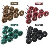 Abrasive Buffing Wheels, 40pcs Buffing Polishing Wheel Set 80/120/160/240 Grit for Dremel Rotary Tool by Lukcase