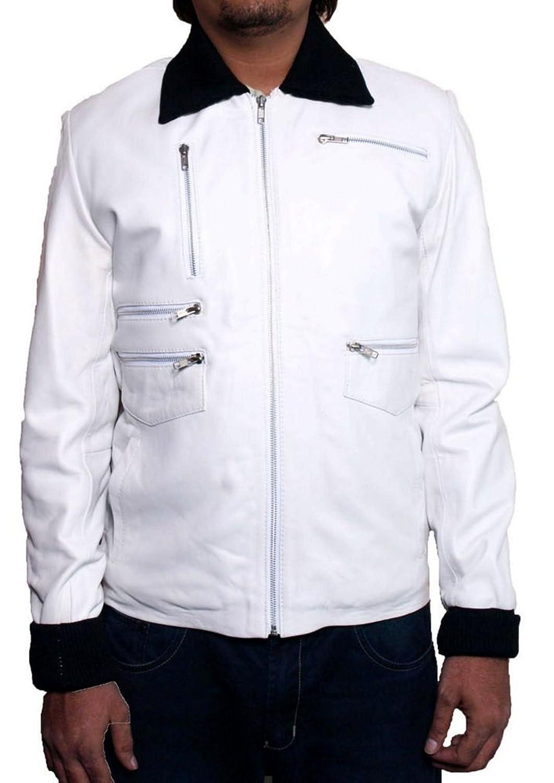 Men's Lewis Sheep White Leather Jacket günstig bestellen