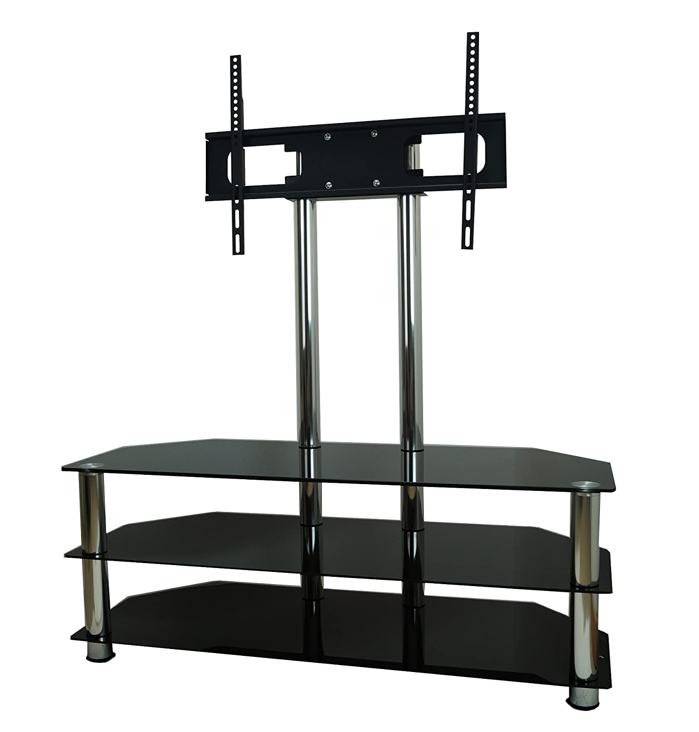 mountright UMS5 Cantilever Glass TV Stand For Up To 60 Inch Screens