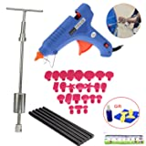 Paintless Dent Repair Tools Kit - Grip PRO Slide Hammer with 24pcs Dent Removal Pulling Tabs Car Dent Repair Tools for Vehicle SUV Car Auto Body Hail Damage Remover