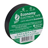 Duck 299006 Utility Vinyl Electrical Tape, 3/4 Inch x 60 Feet (Single Roll), Black (Color: Black, Tamaño: 3/4 Inch x 60 Feet (Single Roll))