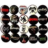 Thrash metal 20 buttons NEW 1