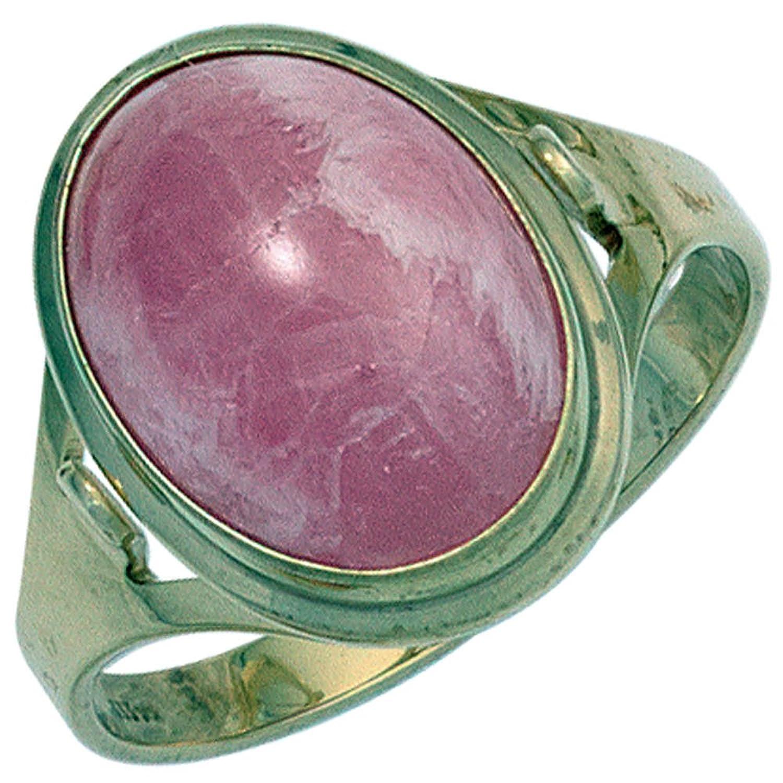 Damen Ring 585 Gold Gelbgold 1 Rhodochrosit rosa Goldring ( Gold Ringe ) Größe : 58 (18.5) jetzt bestellen