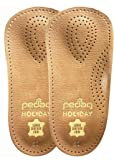 Pedag 17947 Holiday 3/4 Leather Ultra Light, Thin, Semi-Rigid Orthotic with Metatarsal Pad, and Heel Cushion, Tan, Arch Support and Padding at the Heel, Tan, Women's 8