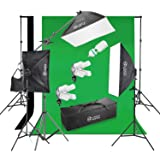 Photo Master Photography Lighting Kits 2400W 20x28 Photography Softbox Continuous Photo Lighting Kit [Includes Boom, Stands, Softboxes, Socket Heads,