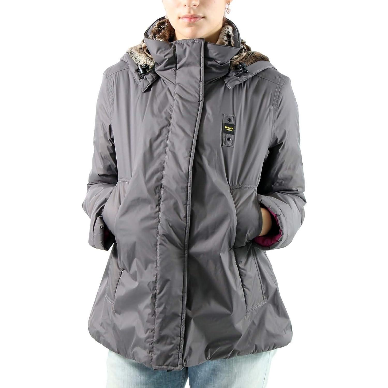 BLAUER Damen Winterjacke CAPOSPALLA INTERNO PELLICCIA BLD0658 Daune in Grau günstig online kaufen