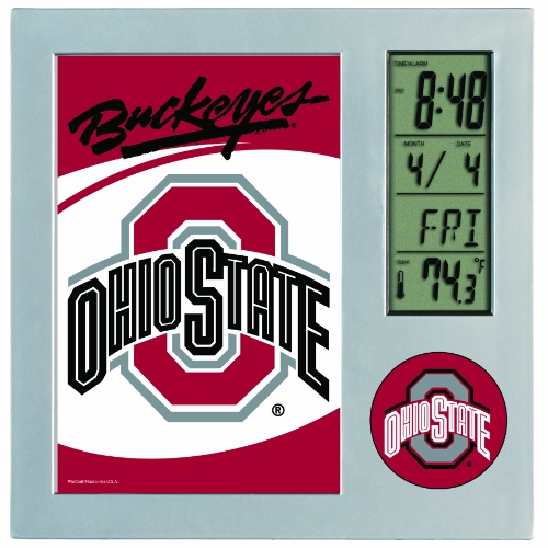 NCAA Ohio State Buckeyes Digital Desk Clock Picture Frame