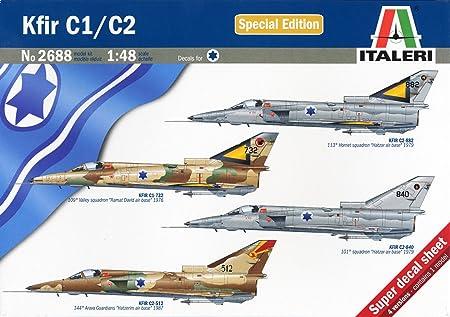 Italeri - I2688 - Maquette - Aviation - Kfir C1/C2 - Echelle 1:48