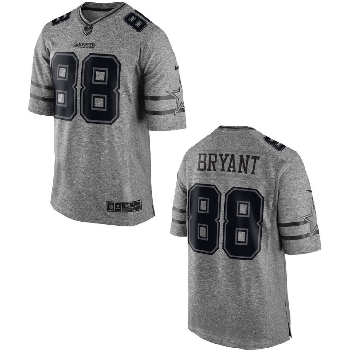 nike dez bryant dallas cowboys youth throwback game jersey - navy blue