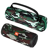 Esimen Camouflage Hard Case for JBL Flip 5 Flip 4 Portable Bluetooth Speaker Carry Bag Protective Travel Box (Tamaño: for JBL Flip 4)