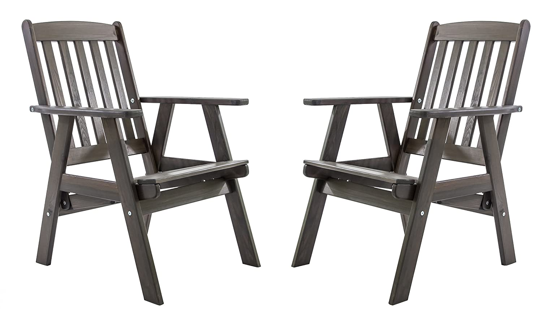 Ambientehome Gartensessel verstellbarer Sessel Stuhl Gartenstuhl Massivholz Hochlehner VARBERG, Taupegrau, 2-teiliges Set online bestellen