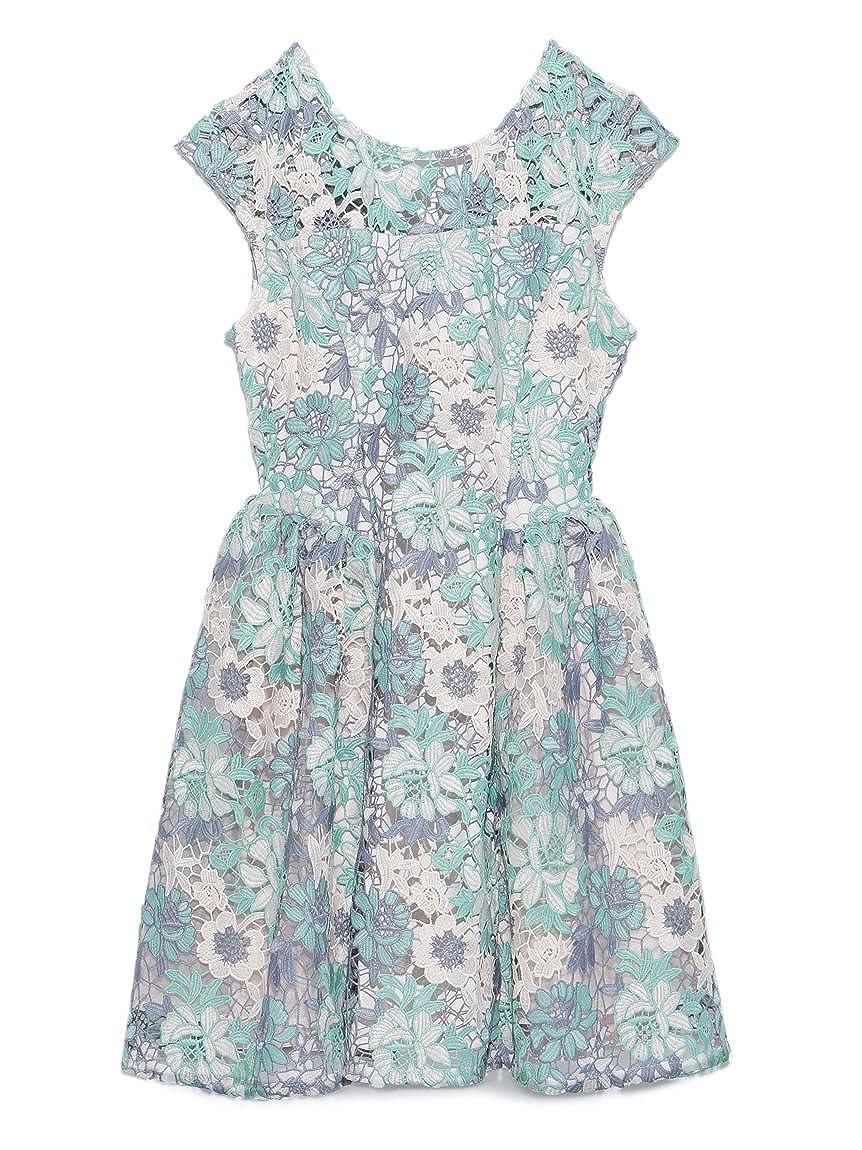 (リリーブラウン)Lily Brown 配色レースワンピース : 服&ファッション小物通販 | Amazon.co.jp