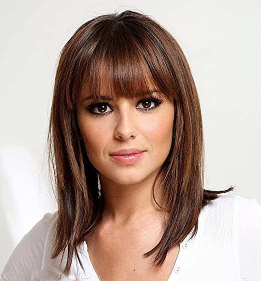 Asifen Medium Length Wigs for Women Human Hair Wigs Mixed Real Human Hair