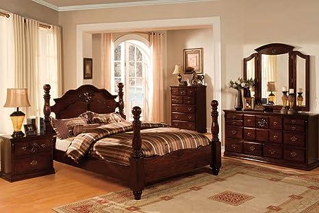 Tuscan Colonial Style Dark Pine Finish Bedroom Dresser