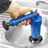 Dressffe Air Power Drain Blaster gun, High Pressure Powerful Manual sink Plunger Opener cleaner pump for Bath Toilets, Bathroom, Shower, kitchen Clogged Pipe Bathtub (Color: as picture, Tamaño: 27.5cm x 28cm x 9.5cm/10.8