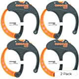 Cable Cuff PRO (4 Pack: 4x Large 3 Inch Diameter) Adjustable, Reusable, Cable Tie Replacements for Extension Cords or Electronics (Pack 2) (Tamaño: Pack 2)