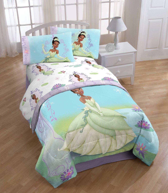 Princess And The Frog Tiana Lilypad Twin Bedding Sheet Set