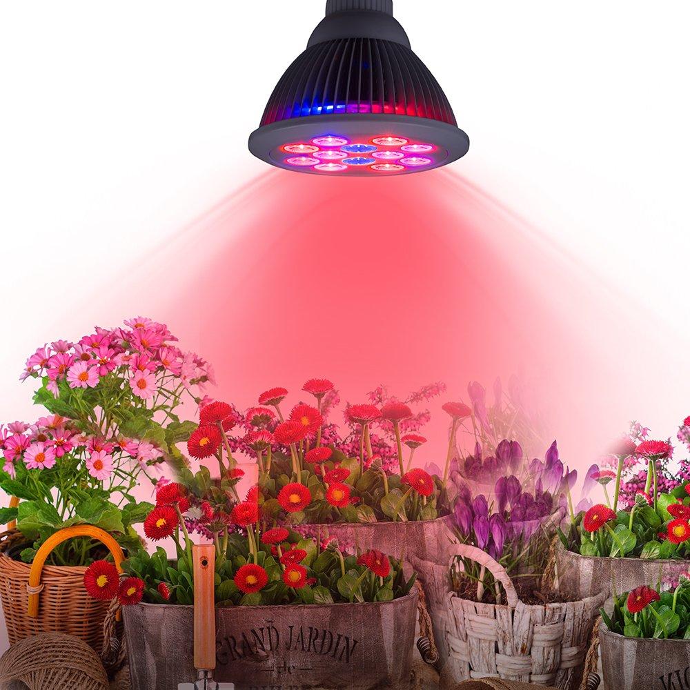 Newest Led Grow Light 24w Taotronics Plant Grow Lights E27