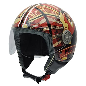 NZI 490022G618 Vintage II Strong to Finish Casque de Moto, Illustration Popeye, Taille : XS