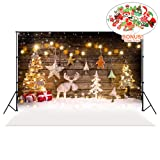 Christmas Backdrops with Photo Booth Props, MeeQee 7X5ft Photography Backdrop Christmas Deer Bokeh Stars Backgrounds Pictorial Cloth Customized Photography Background Studio Prop, MQ-CH4 (Color: MQ-CH4)