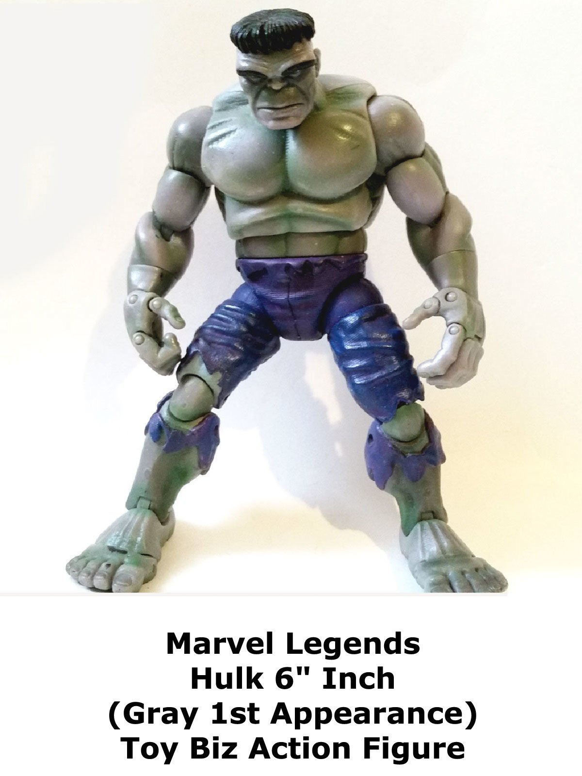 "Review: Marvel Legends Hulk 6"" Inch (Gray 1st Appearance) Toy Biz Action Figure"