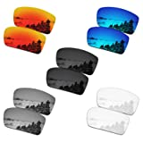 SmartVLT Set of 5 Men's Replacement Lenses for Oakley Gascan Sunglass Combo Pack S01 (Color: Stealth Black&fire Red&ice Blue&silver Titanium&hd Clear, Tamaño: One size)