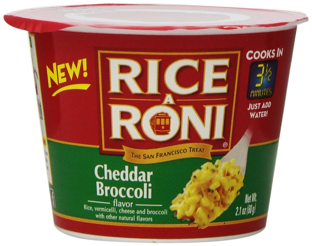Rice-A-Roni Cups, Cheddar Broccoli, 2.1 Ounce