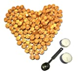 Gold Sealing Wax Beads, [Other Colors Also Available], Botokon 150 Pieces Octagon Wax Seal Beads Kit with a Wax Melting Spoon and 2 Pieces Candles for Wax Seal Stamp (Gold) (Color: Gold)