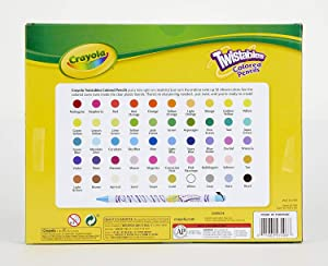 Crayola Twistables Colored Pencils, Great for Coloring Books, 50 Count, Gift - 2 Pack (Tamaño: Pack of 2)
