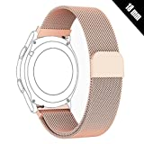 Antube 18mm Women Men Milanese Loop Mesh Stainless Steel Metal Watch Band Bracelet Strap for Huawei Watch, LG Watch Style, Nokia Withings Steel HR 36mm Smartwatch (Rose Gold) (Color: Rose Gold)