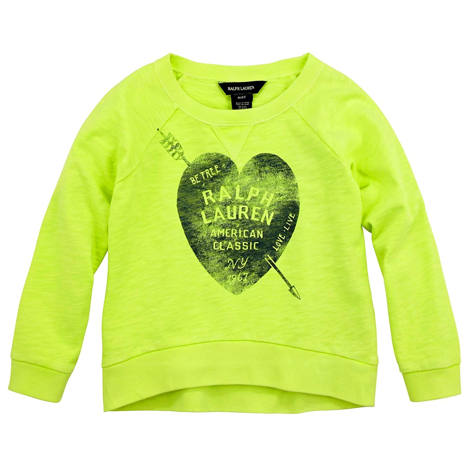 Ralph Lauren Girls Cotton Neon Sweatshirt Pullover Top ralph lauren girls cotton neon sweatshirt pullover top