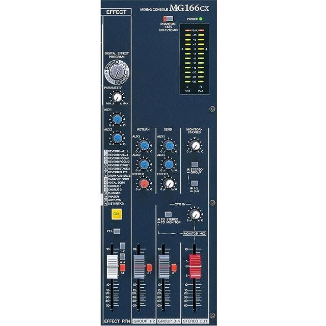 Yamaha MG166CX 16 Input 6 Bus Rack Mountable Mixer with Digital