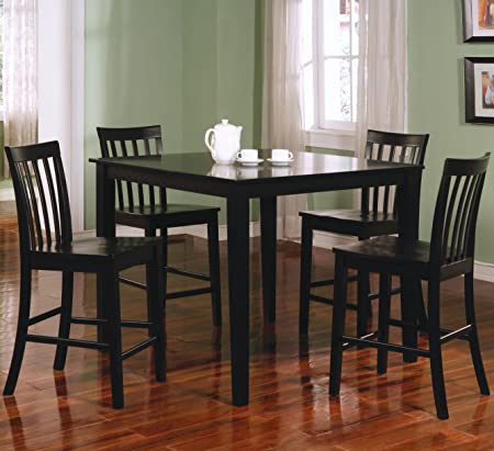 Ashland 5-Pc Counter Height Dining Set in Black by Coaster