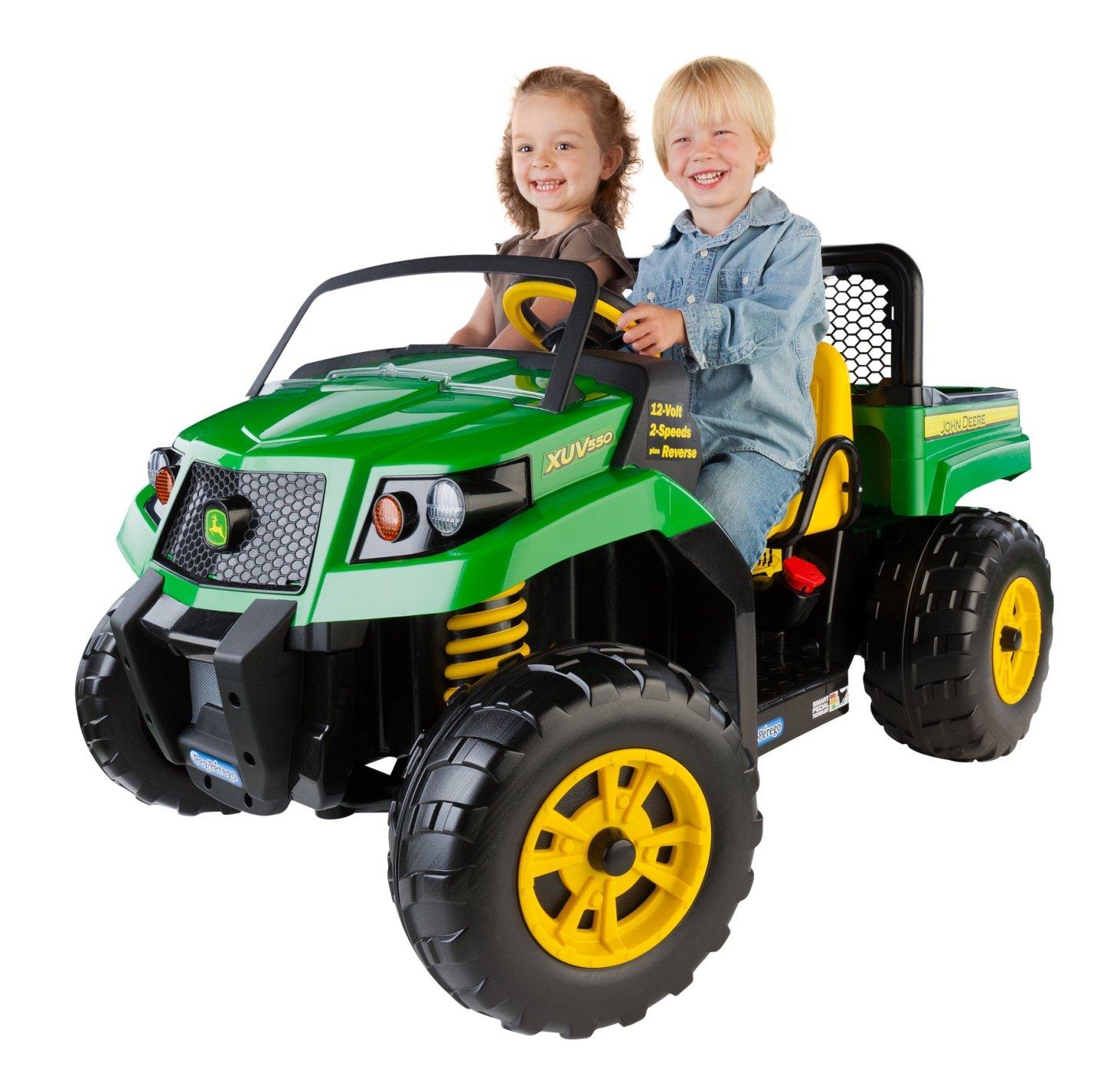 Riding Toys For Boys : Kids riding car vehicle john deere gator truck dump bed
