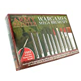 The Army Painter 10 Miniature Paint Brushes with FREE Masterclass Kolinsky Sable Hair Brush - Durable Miniatures Paint Brush Set, Wargamer Brushes with Comfortable Grip - Wargames Mega Brush Set