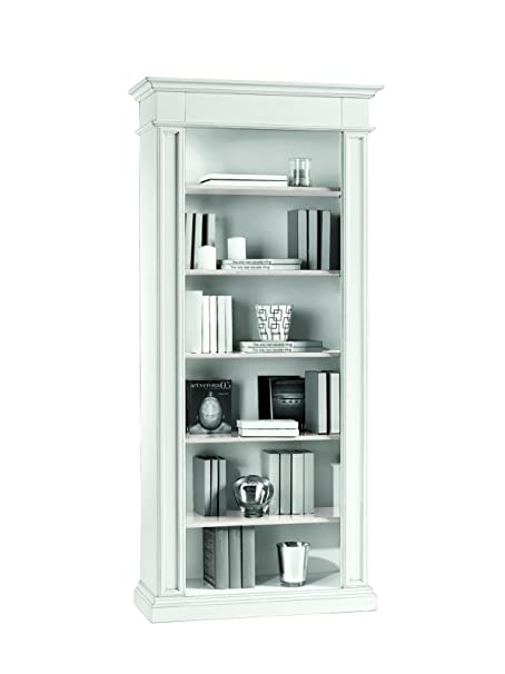 Lo Scrigno Arredamenti, Libreria Classica 6 ripiani laccata bianco opaco W1415/L